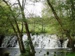 Salto de agua en el río Arenteiro
